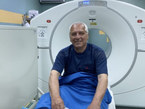 Пациент на Галий-ПЕТ-скенер изследване