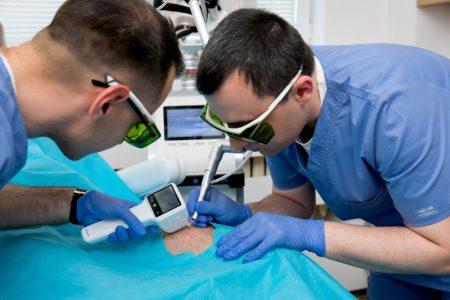 Лазерна операция на късо гемче